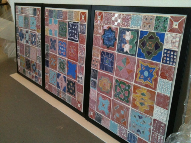The Children's Museum summer program, I made tiles with 120 students age 6-12.